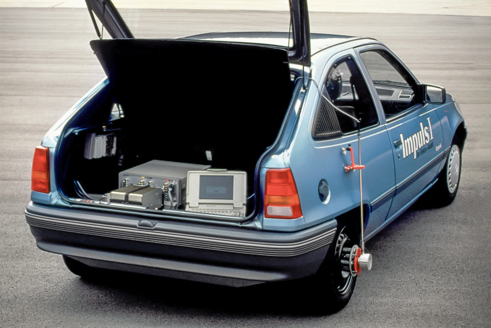 foto 50 jahre opel elektromobilität opel kadett e impuls I