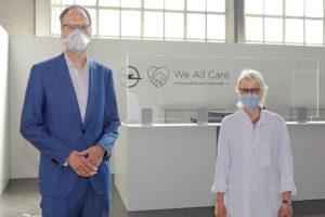 Foto Opel Chef Lohscheller Corona Impfung Start in Rüsselsheim