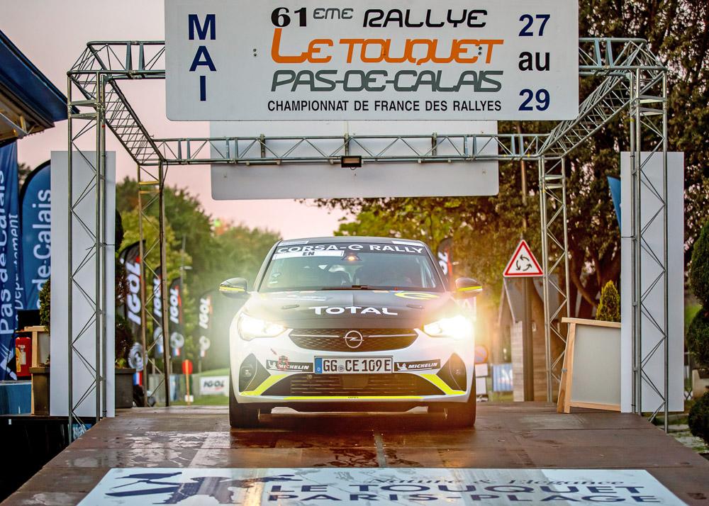 foto bild start opel corsa-e rally cup in touquet