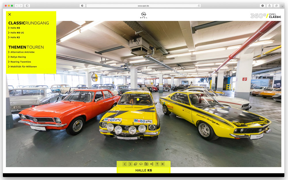 foto opel classic virtuelle rundgänge museum ruesselsheim ascona röhrl europameister