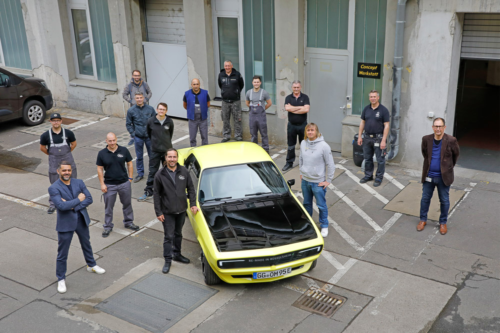 foto team opel classic manta elektromod gse