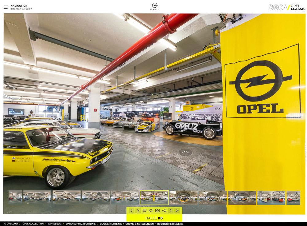 foto opel classic 360 Grad virtuelle Rundgänge Sammlung Museum Ruesselsheim